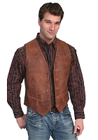 Scully Leather Vintage Vest in Brown